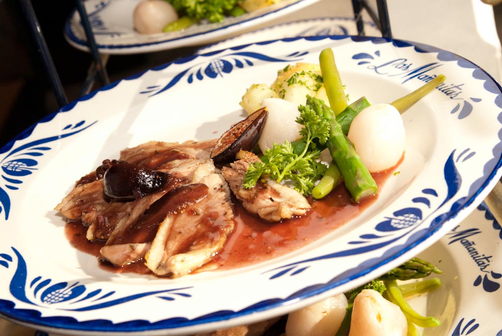 Magret de canard in porto and fig sauce